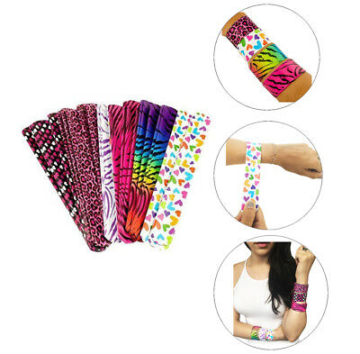 Plastic Vinyl Neon Retro 90s Nostalgic Slap On Bracelets Party Favors Gifts - 90s Slap Bracelets