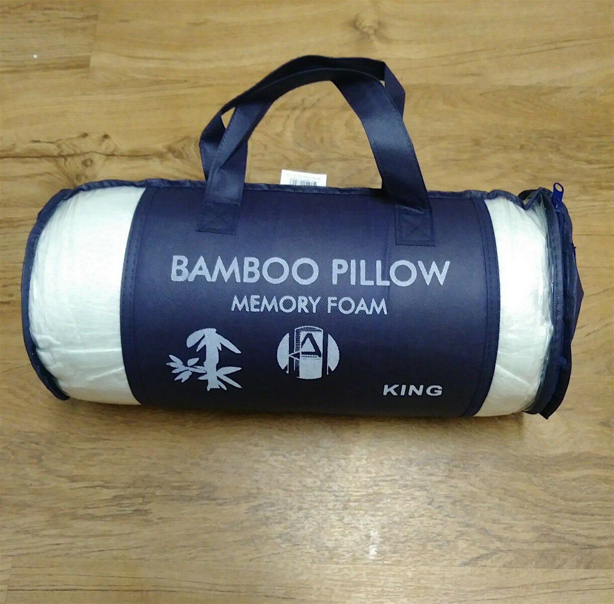 Bamboo Memory Foam Pillow- King Size- Brand New in Package