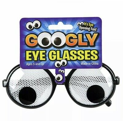 GOOGLY EYE NOVELTY GLASSES Kids or Adults Classic Prank Costume Accessories