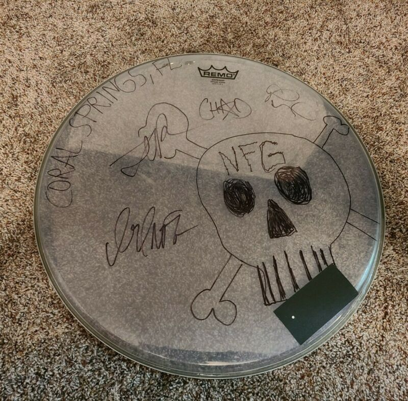 New Found Glory Huge Drumhead USED & SIGNED BY ALL MEMBERS NFG