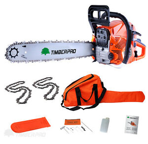 TIMBERPRO-62cc-Petrol-Chainsaw-20-Bar-2x-Saw-Chain-Alloy-Assisted-Start