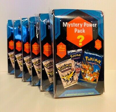 POKEMON Mystery Power Pack - 5 Packs Plus 1 EX, GX, FA, SR - Vintage Packs 1:10!