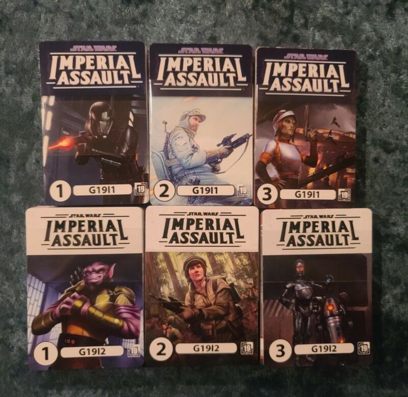 Start Wars Imperial Assault 2019 OP Promo Sets - 72 Cards in all!!!