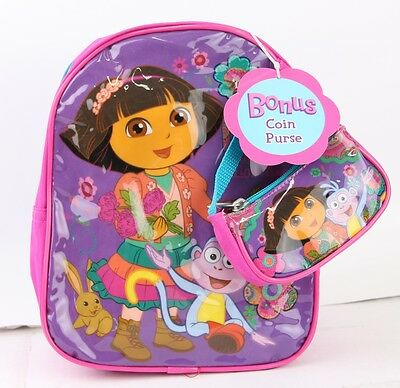 Dora the explorer 10'' Mini Backpack with Coin Purse (Dora The Explorer Purse)