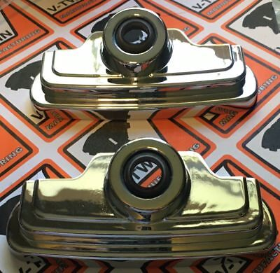 Chrome Metal Head Bolt & Spark Plug Covers for Harley  for EVO 1986-99  - Evo Spark Plug