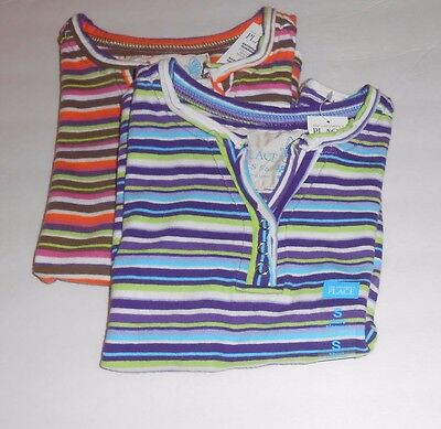 The Childrens Place Girls Cap Sleeve Striped Top Shirt S/5-6 NWT x 2
