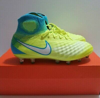 418b21916394 Nike Magista Obra II FG Flyknit Volt White Women Soccer Cleats Sz 10  844205-717