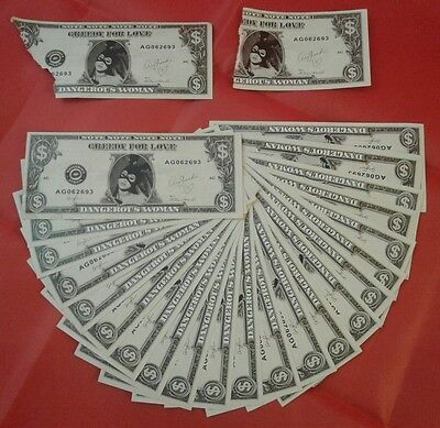 Ariana Grande Dangerous Woman Tour 2017 Stage Used Money 30 Dollars Plus 2 Torn