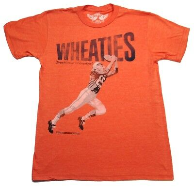Wheaties Cereal Football Player Men's T-shirt  ()
