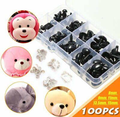 Animal Noses (100Pcs/BOX 5 Size Plastic Safety Nose Triangle For Doll Animal Puppet)