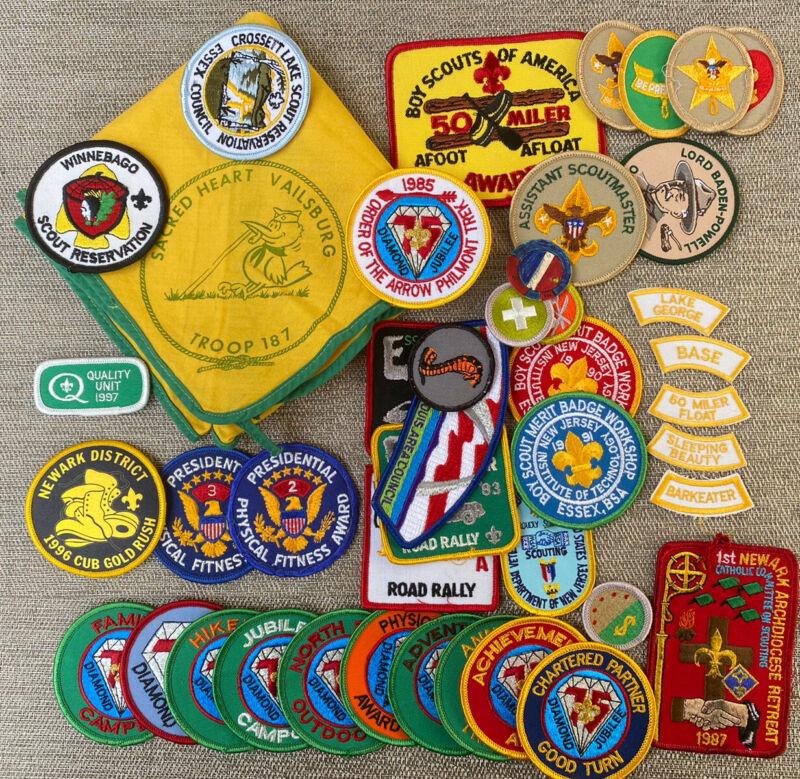 Boy Scouts Of America Patch Lot W Neckerchief Essex Council Newark NJ