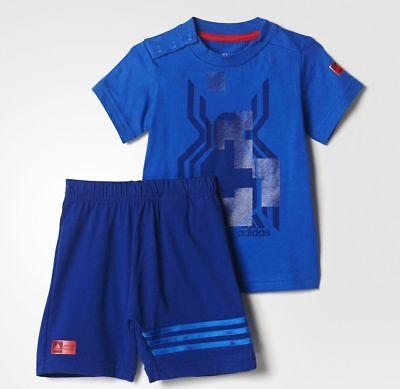 adidas boys infant Marvel Spiderman shorts & top set. Summer set. 0-4 Years.](Boys Spiderman Top)