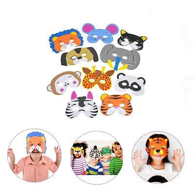 12pk Assorted Animal Masks Foam Kids Dress Up Classroom Halloween Party - Foam Animal Masks