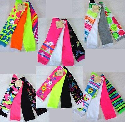 Womens Over Knee High Socks, 4 Pair Lot, Cute Fun, Bright, Pink, Neon, 24 Styles - Neon Pink Knee High Socks