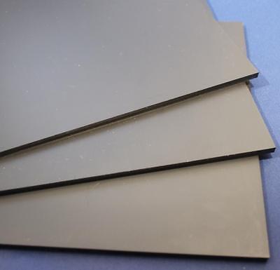 Hart PVC Kunststoffplatte schwarz 300x200x1mm mit einseitiger Schutzfolie