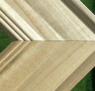**SALE** 40 ft - Wide Unfinished Picture Frame Moulding, Hardwood, 5 ft Sticks