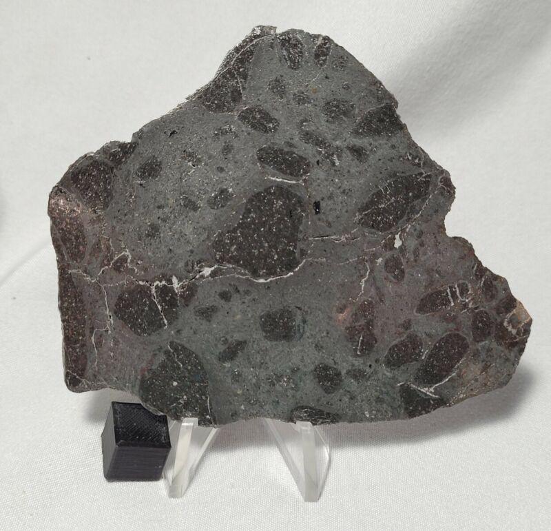 32.4g, full slice, H melt meteorite breccia Under classification