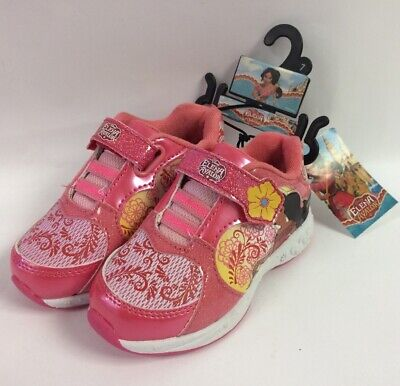 New Elena Of Avalor Pink Sparkly Girls Athletic Shoes Size 7 Ships w/ Bubble