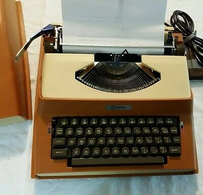 Vintage Royal Litton 1969 Apollo 10-gt Portable Electric Typewriter