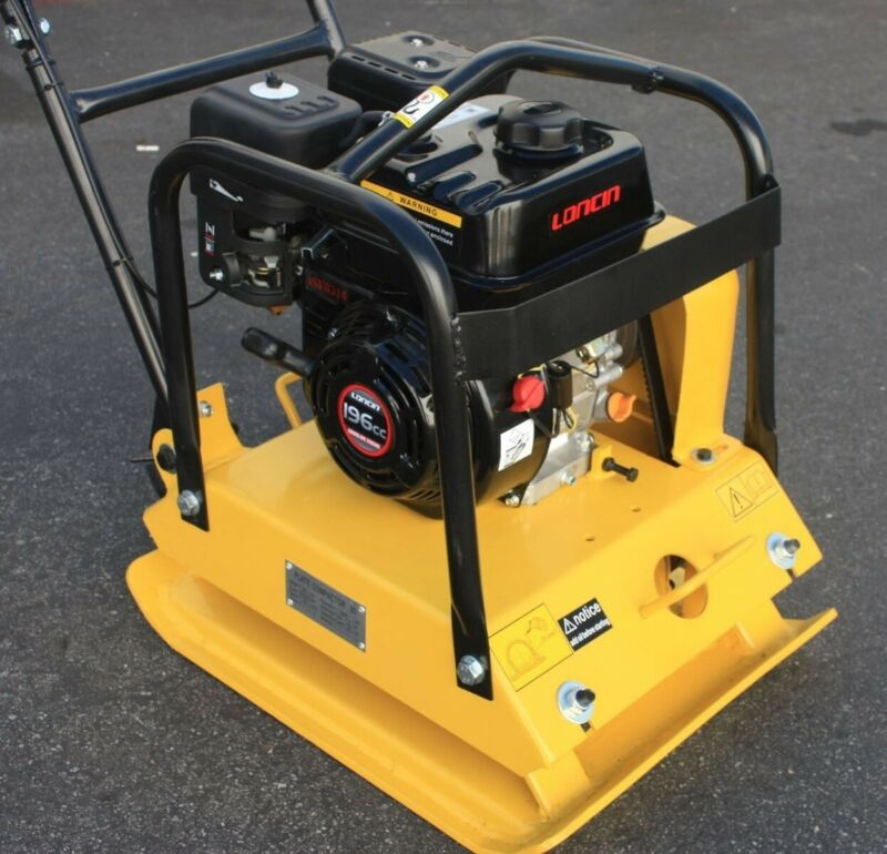 Walk Behind Dirt  Vibrating Compactor  Rammer Asphalt Soil 6.5HP 196cc Engine