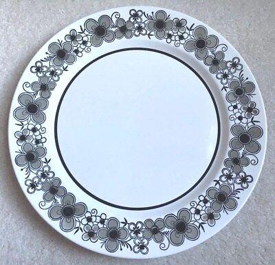 "Mikasa Mediterrania Highland 4078 Black White Chop Plate Round Platter 12"""