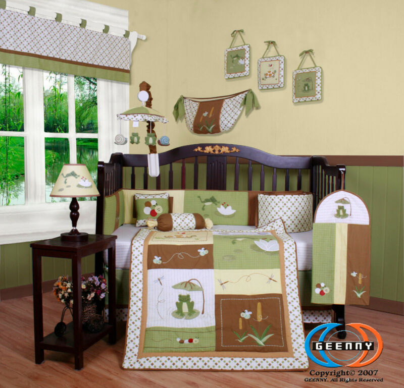 13PCS Leap Froggy Froggie Baby Nursery Crib Bedding Sets - Holiday Special
