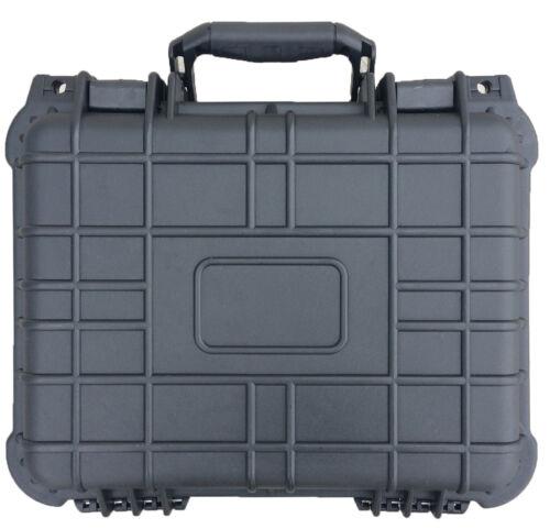 "14"" Hard Shell Case For Guns DSLR Camera W/ Pelican 1400 Style Pluck Foam NEW"