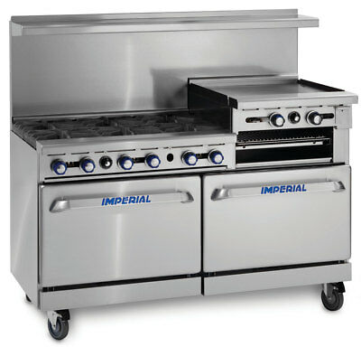 Imperial Range Ir-6-rg24-c 60in Range 6 Gas Burner W 1 Convection 1 Std Ovens