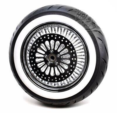 16 3.5 46 King Fat Spoke Chrome Rear Wheel Avon Tire Package Harley Touring WWW