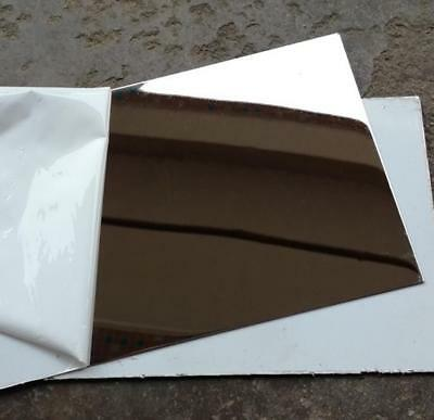 Us Stock 4pcs 0.5mm X 5 X 5 304 Stainless Steel Mirror Polished Plate Sheet