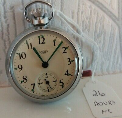 1974 SMITHS EMPIRE POCKET WATCH RUN FOR APPROX 26 HRS NEW CRYSTAL