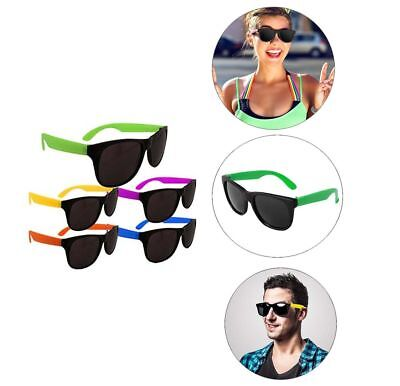 108PK Assorted Color NEON SUNGLASSES 80'S Kids Summer Poolside Party Supplies