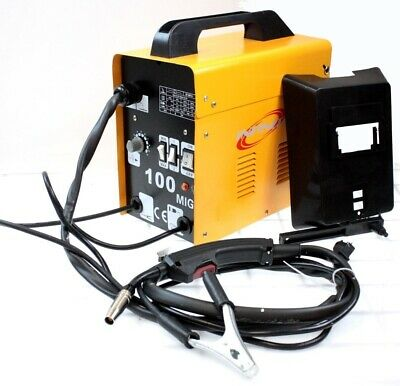 220v Mig100 Gas-less Flux Core Welder 90 Amp Variable Wire Feed Welding Machine