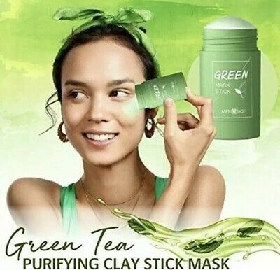 Green Tea Purifying Clay Stick Mask Oil Control Anti-Acne Eggplant Fine Solid UK