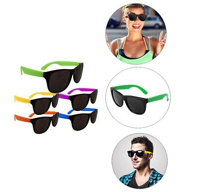 Assorted Color NEON SUNGLASSES 80'S Kids Summer Poolside Party Supplies Props