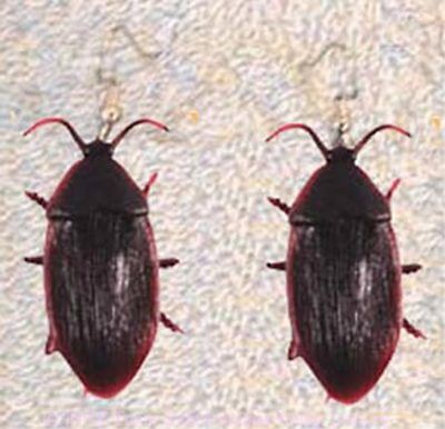 Funky COCKROACH EARRINGS Roach Prank Gag Gothic Horror Movie Bug Costume - Roach Costume