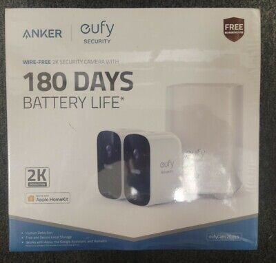 Eufy WIRE-FREE 2K  HD 2-Cam Kit, Home Security System with 180-Days Battery Life