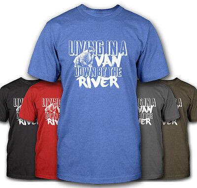 LIVING IN A VAN DOWN BY THE RIVER FUNNY MATT FOLEY SNL CHRIS FARLEY T-SHIRT (Matt Foley Van Down By The River)