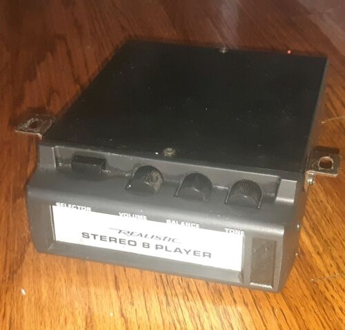 Realistic RADIO SHACK under dash 8 track player model 12-1819A - MUSCLE CAR