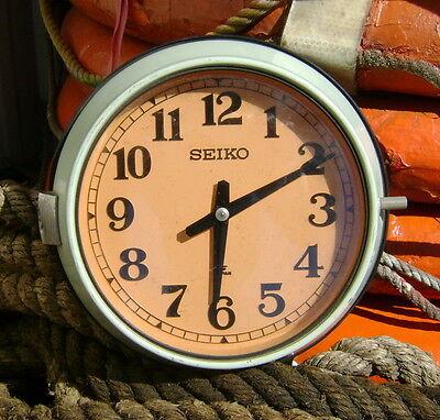 Vintage Seiko Wall Mount Slave Clock - Original Ship Salvage