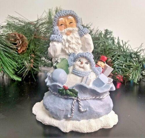 """Encore Snow Buddies w/ Santa & Toy Bag Figurine Christmas 2000 No Box 5""""x4""""x3"""""""