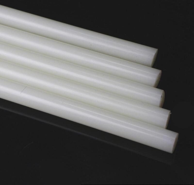 """US Stock 6pcs 10.5mm Diameter 13"""" Long PA6 Nylon Round Rod Stick Bar Stock White"""