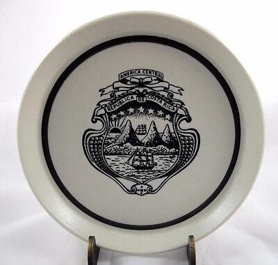 American Central Republica De Costa Rica Trinket Dish Coat of Arms Souvenir HTF