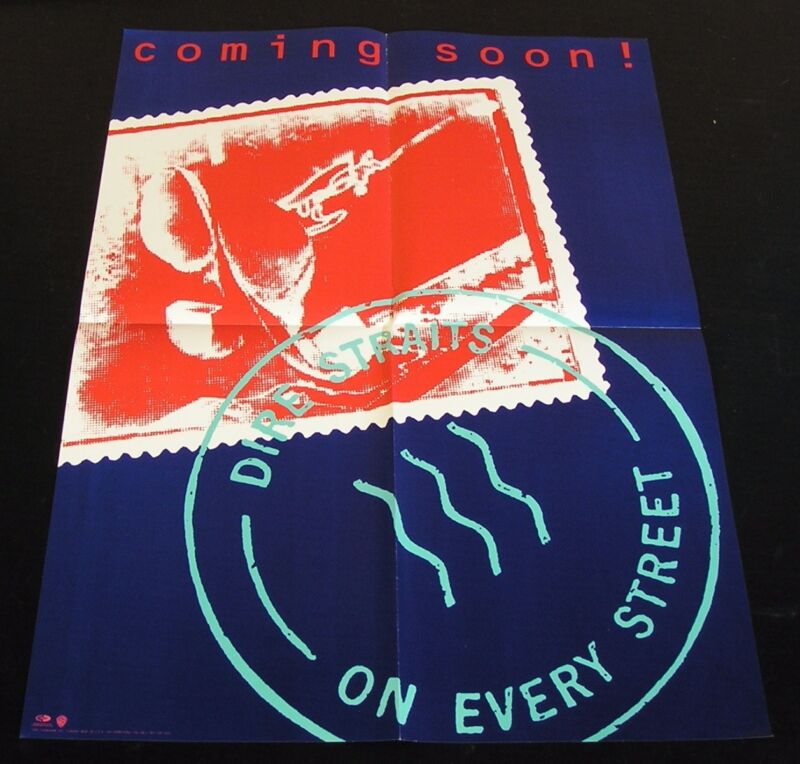 "Dire Straits-On Every Street-RARE 1991 US ""Coming Soon"" 24 x 18 Promo Poster-NOS"