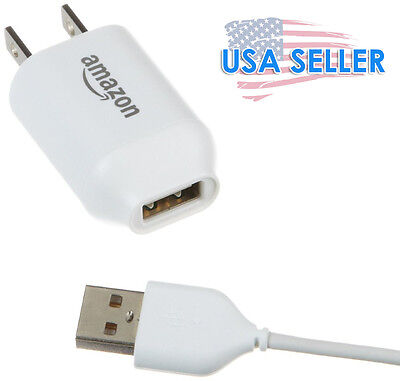 AMAZON USB AC WALL POWER ADAPTER & USB cord cable CHARGER 5V