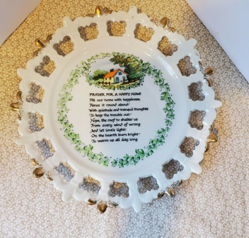 Norcrest Plate Prayer For A Happy Home