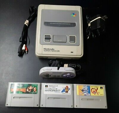 Nintendo Super Famicom Console W/ Hook Ups, Controller and 3 Games. US Seller
