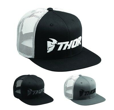 Thor Trucker S8 Twill Mesh Hat Kappe MX Cross Cap one Size Twill Mesh Cap