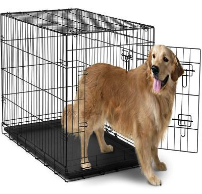- Extra Large Dog Crate Kennel XXL XL Huge Folding Pet Wire Cage Giant Size Breed