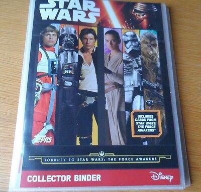 TOPPS STAR WARS The Force Awakens 207 cards Full Set + binder+LTD luke skywalker